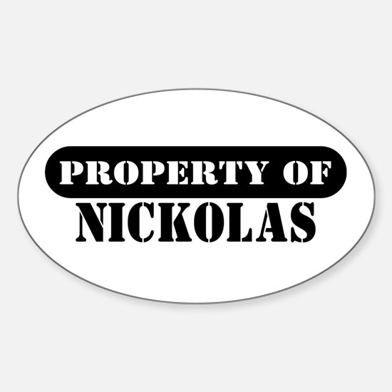 Property of Nickolas Oval Decal