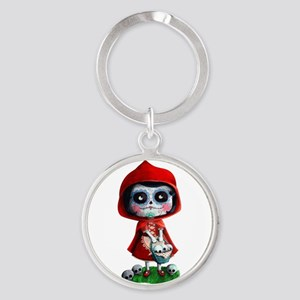 Spooky Red Riding Hood Keychains