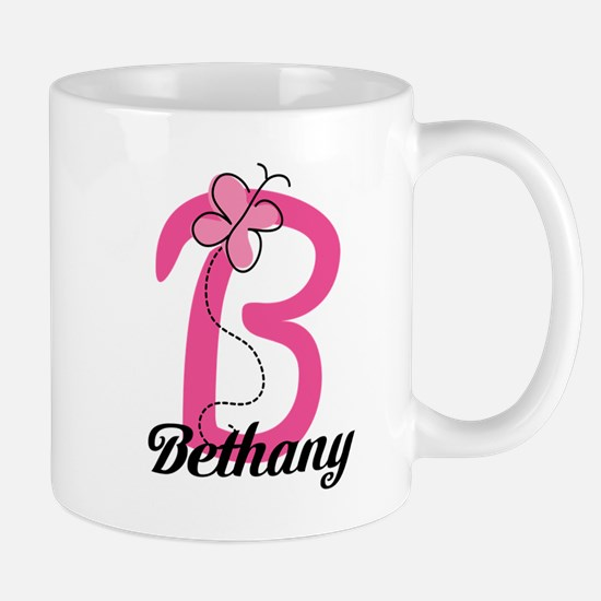 Personalized Monogram Letter B Butterfly Mug