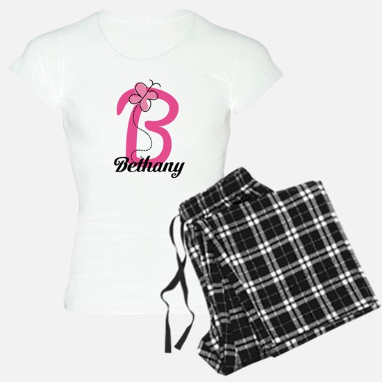 Personalized Monogram Letter B Butterfly Pajamas