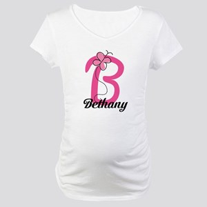 Personalized Monogram Letter B Butterfly Maternity