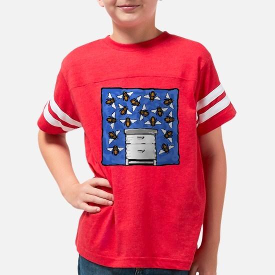 Bees and Beehive Youth Football Shirt