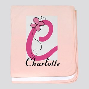 Personalized Monogram Letter C Butterfly baby blan