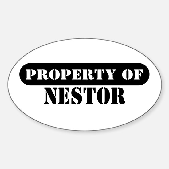 Property of Nestor Oval Decal