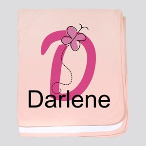 Letter D Monogram Personalized baby blanket