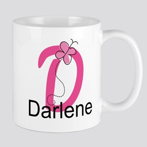 Letter D Monogram Personalized Mug