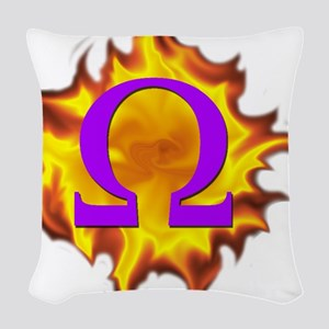 We are Omega! Woven Throw Pillow