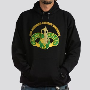SSI - 3rd Armored Cavalry Rgt w Text Hoodie (dark)