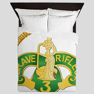 SSI - 3rd Armored Cavalry Rgt w Text Queen Duvet