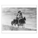 Mounted Warriors Small Poster