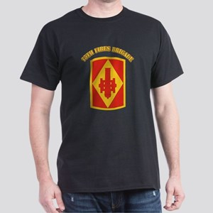 SSI - 75th Fires Brigade with Text Dark T-Shirt