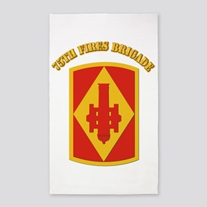SSI - 75th Fires Brigade with Text 3'x5' Area Rug