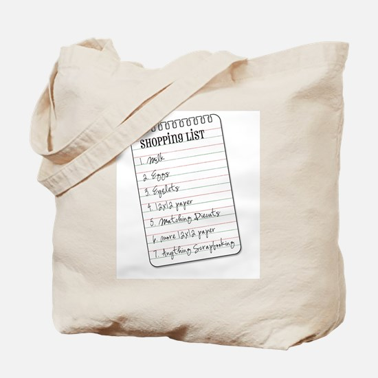 Shopper's List Tote Bag