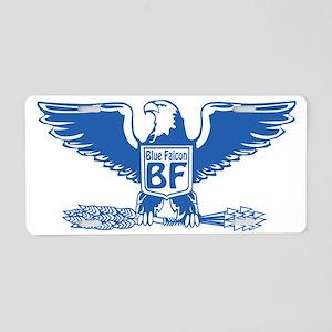 Blue Falcon Aluminum License Plate
