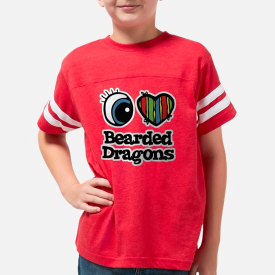 bearded dragons Youth Football Shirt