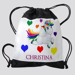 Unicorn Make Personalized Drawstring Bag