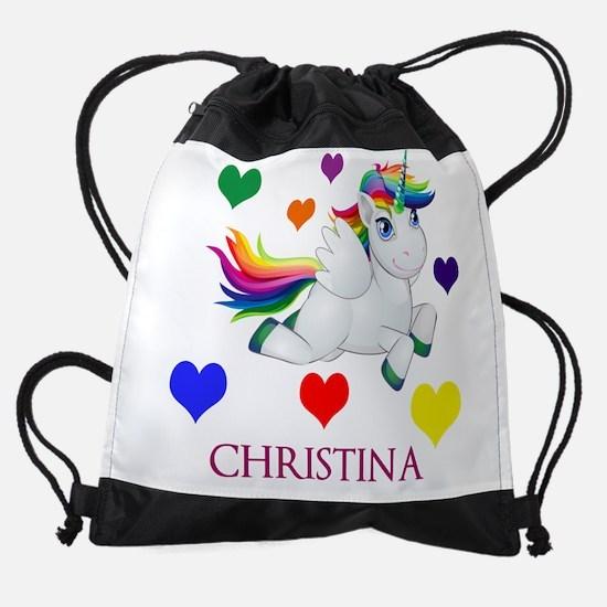 Unicorn Make Personalized Drawstring Bag