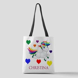 Unicorn Make Personalized Polyester Tote Bag