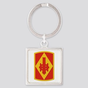 SSI - 75th Fires Brigade Square Keychain
