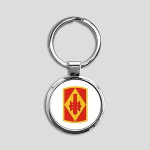 SSI - 75th Fires Brigade Round Keychain
