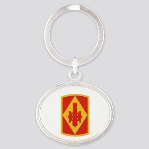 SSI - 75th Fires Brigade Oval Keychain