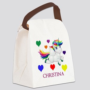 Unicorn Make Personalized Canvas Lunch Bag