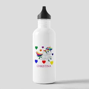 Unicorn Make Personalized Water Bottle