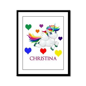 Unicorn Make Personalized Framed Panel Print