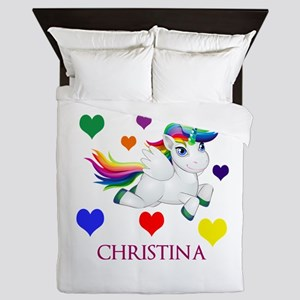 Unicorn Make Personalized Queen Duvet