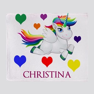 Unicorn Make Personalized Throw Blanket
