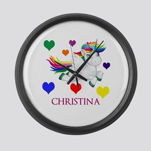 Unicorn Make Personalized Large Wall Clock