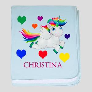 Unicorn Make Personalized baby blanket