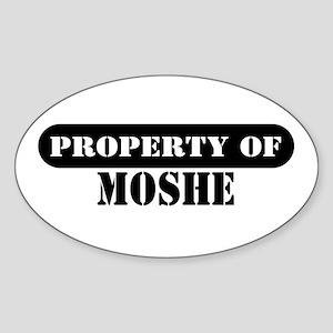 Property of Moshe Oval Sticker