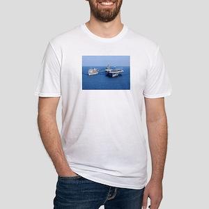 CVN-71 Fitted T-Shirt