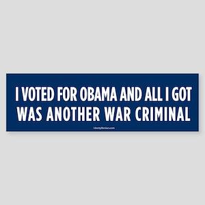 Another War Criminal Bumper Sticker