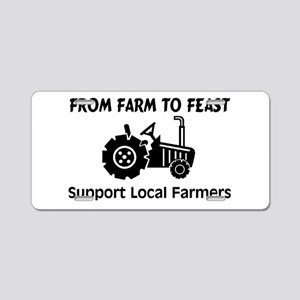 Support Farmers From Farm To Feast Aluminum Licens
