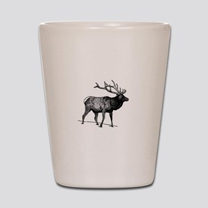Elk - Wapiti (line art) Shot Glass