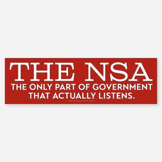 The NSA Bumper Bumper Bumper Sticker