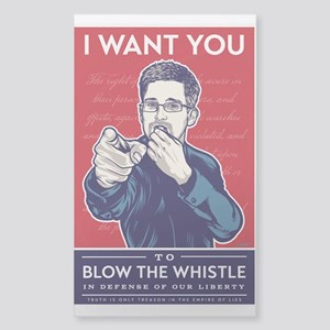 Snowden Whistle Blower Sticker