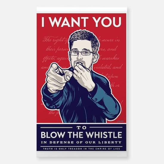 Snowden Whistle Blower Decal