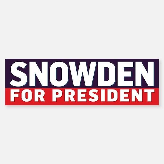 Snowden for Presdient Bumper Bumper Bumper Sticker