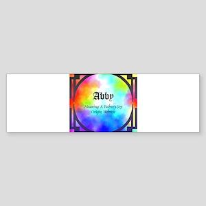 Abby Bumper Sticker