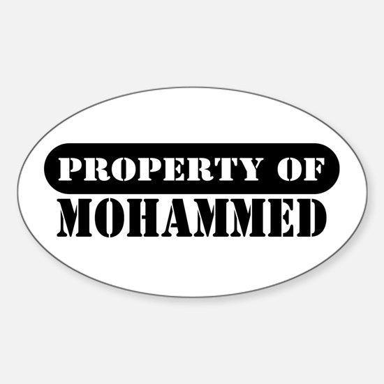 Property of Mohammed Oval Decal