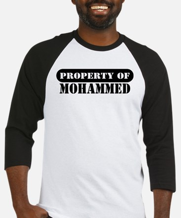 Property of Mohammed Baseball Jersey