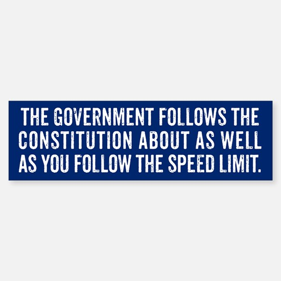 Constitution and Speed Limit Bumper Bumper Bumper Sticker
