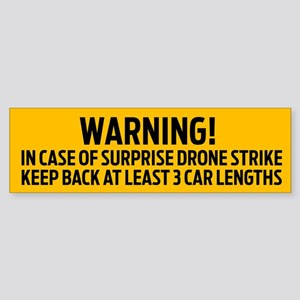 Drone Strike Warning Bumper Sticker