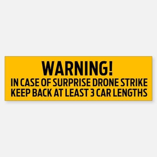 Drone Strike Warning Bumper Bumper Bumper Sticker