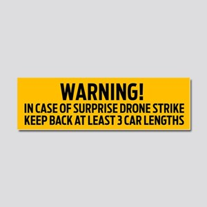 Drone Strike Warning Car Magnet 10 x 3