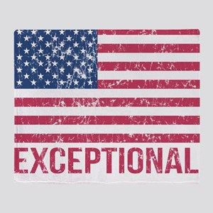 Exceptional American Flag Throw Blanket
