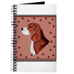 Beagle with pawprints Journal